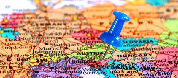 Страна Словения на карте